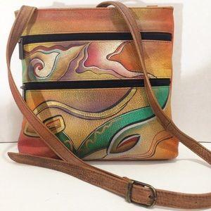 Anuschka Bags   Hand Painted Crossbody Shoulder Bag Purse   Poshmark e585b15e9e